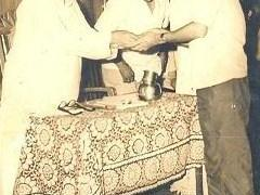 Renowned Marathi writer S.N.Naware felicitating Arun Kashalkar